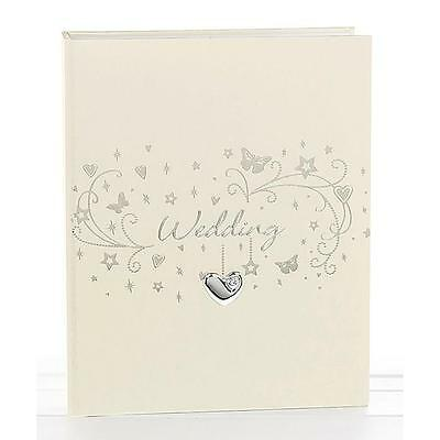 Wedding Photo Album With Raised Heart 5 x 7 Boxed New 60930