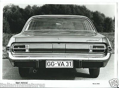 Opel Admiral 1964 Original Press Photograph REAR View Excellent Condition