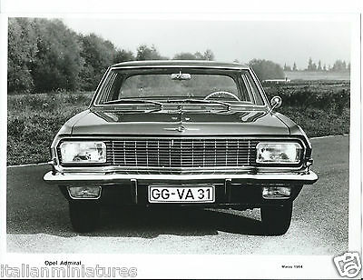 Opel Admiral 1964 Original Press Photograph Front View Excellent Condition