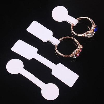 100Pcs/Set Jewelry Blank Sticky Label Ring Hang Size Price Tags Sticker Display