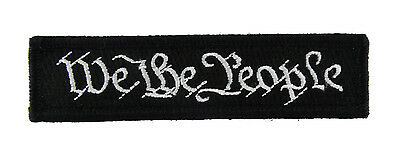 We The People Trust Tactical Hook & Loop Fully Embroidered Morale Tags Patch 1x4