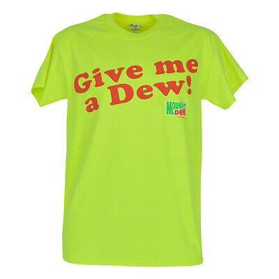 Give Me A Dew Mountain Dew Soda Fountain Drink Novelty Brand Mens Shirt