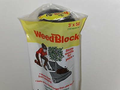 50' Weed Block Landscape Garden Fabric Weed Control Lawn Care by Easy Gardener