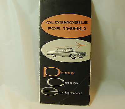 1960 Oldsmobile Salesmen's Specifications Book Prices