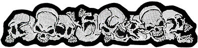 """Skull Strip Embroidered Patch 20cm X 5cm (8"""" X 1 3/4"""")"""