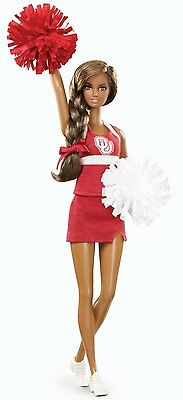 Barbie Collector University Of Oklahoma Boomer Sooner Ou Aa *new*