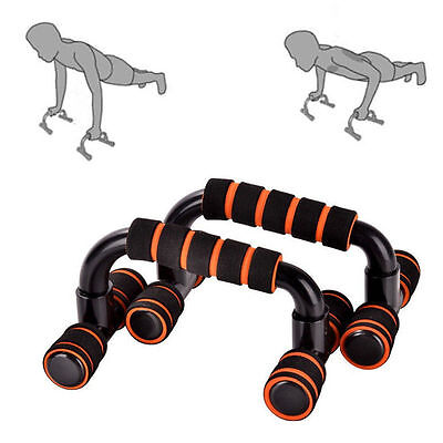 Unique Push Up Bar Stand H-Type Handle Workout Training Gym Fitness Enquipment