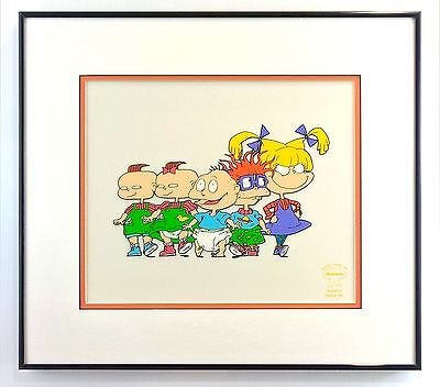 S/O The Rugrats Salute Cel Framed Angelica Tommy Chuckie Nickelodeon Cartoon