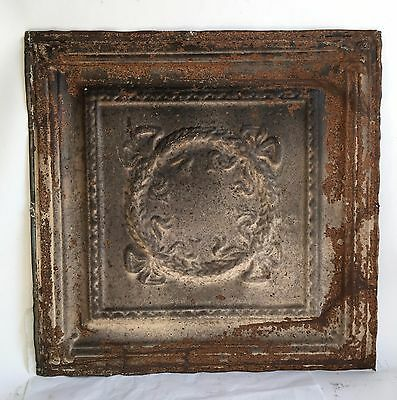 """24""""x 24"""" 1890's Antique Ceiling Tin Tile *See Our Salvage Videos* Browns C44a"""