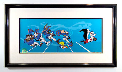 Offensive Play NFL Football Pepe Le Pew Sericel Looney Tunes Framed Art Tweety