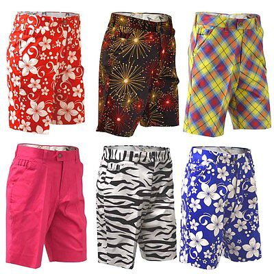 SALE! CHEAP REDUCED Royal And Awesome Golf Shorts Waist 30 5 Styles Loud & Funky