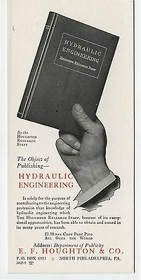 Old Advertising Blotter E.F.Houghton Publisher Hydraulic Engineering