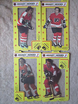 4 Old 1975 Hockey Philadelphia Flyers Heroes Pin Up Stand Up Sportrophy