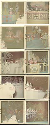 Lot of 10 Vintage Color Photos Its A Small World Ride Dolls Disneyland CA 672280
