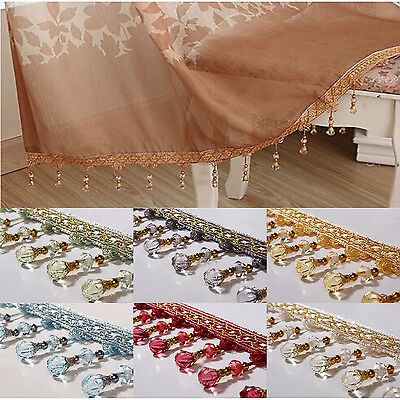 Curtain Tassel 1 meter Sewing Handcraft Crystal bead Trim Decoration Hanging