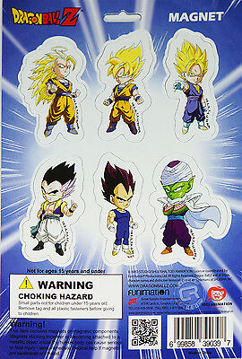 Dragon Ball Z Super Saiyan Goku Vegeta Piccolo Magnet Collection Set of 6 New