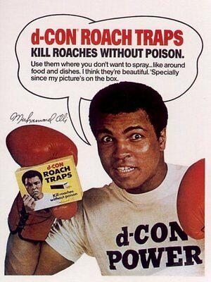 Muhammed Ali D-Con - Matted Advertising Postcard
