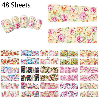 50 Pcs / Set Decal Water Transfer Manicure Nail Art Stickers DIY Tips Decoration