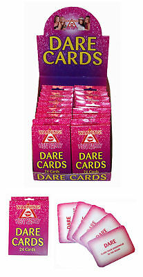 Pack Of 24 Hen Night Party Hen Do Dare Cards Accessory
