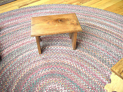 Ohio Amish Handcrafted Figured Oak Step Stool small bench Taguchi style