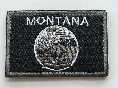 Montana STATE FLAG USA ARMY MORALE TACTICAL MILITARY BADGE PATCH