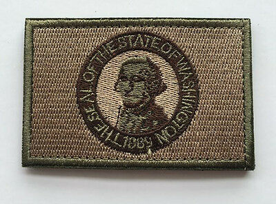 washington state STATE FLAG USA ARMY MORALE TACTICAL MILITARY BADGE PATCH
