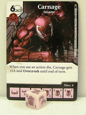 Marvel Dice Masters - 2x #041 Carnage - Insane - The Amazing Spider-Man