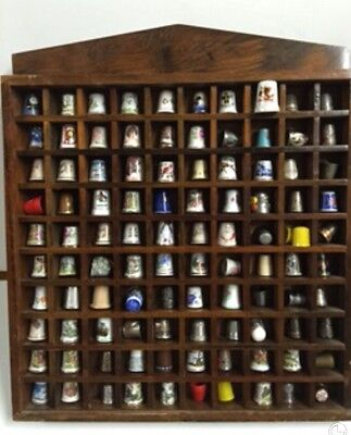 Antique Vintage 101 THIMBLES Mixed COLLECTION Silver Wall Display Sewing Estate