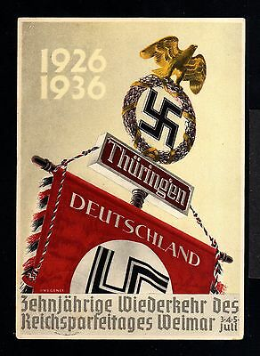 10550-GERMAN EMPIRE-Third REICH.Postcard WEIMAR.1940.WWII.DEUTSCHES III REICH.