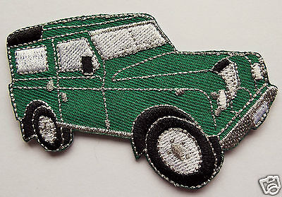 4X4 GREEN JEEP OFF-ROAD LANDROVER Embroidered Sew On / iron Biker patch Custom