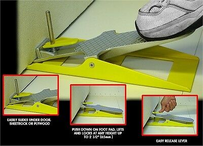 Lift & Lock Drywall Board Lifter and Door Lift Hanging Tool - Locks in Position