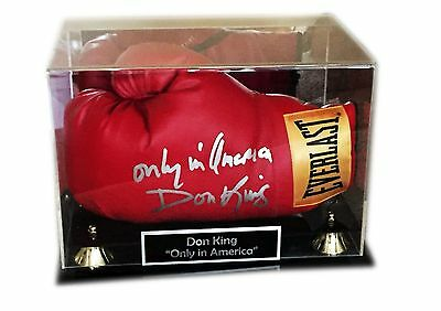Don King Hand Signed Only In American Everlast Boxing Glove In Nice Frame W/coa