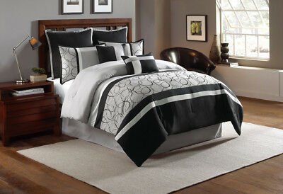 12 Piece Blakely Black/Gray Bed in a Bag Set