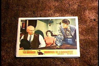 Invitation to a gunfighter yul brynner seven original american invitation to a gunfighter 1964 lobby card 8 yul brynner stopboris Gallery