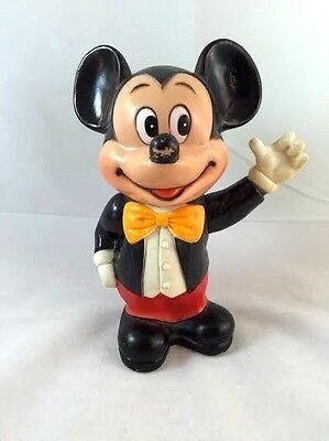 Mickey Mouse Plastic Bank marked Walt Disney Productions VINTAGE