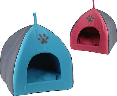 Portable Travel Padded Soft Pet Igloo Kennel Cat Basket Puppy Bed Dog Basket