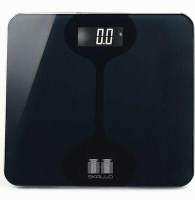 Skallo Marco 440LBS Digital LCD Glass STEP ON Fitness Bathroom Weight Body Scale