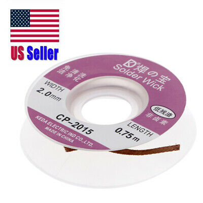 Desoldering Braid Solder Remover Wick 5 Ft. 2.0Mm New Free Ship! Usa 400-168