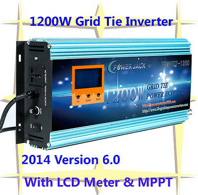 1200W Grid Tie Inverter 14V-24VDC/230VAC With LCD&MPPT Charger For Solar Panel-I