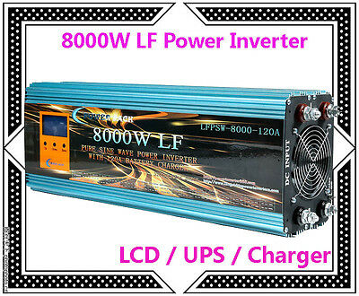 """32000W/8000W LF Pure Sine Wave Power Inverter 12V DC/230V AC 3.5""""LCD/UPS/Charger"""