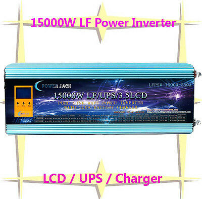 """60000W/15000W LF Pure Sine Wave Power Inverter 24VDC/230VAC 3.5""""LCD/UPS/Charger"""