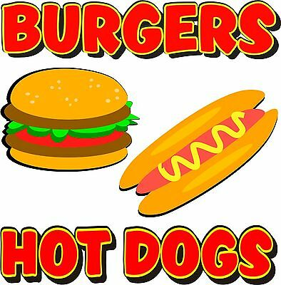 Hot Dogs Burgers Restaurant Concession Food Decal 12""