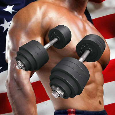 New Total 105 lbs Dumbbells 2 x 52.5 lbs A Set Adjustable Chrome Plated Dumbbell