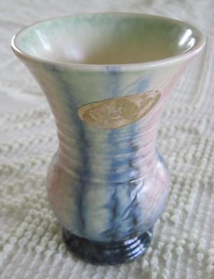 "SylvaC Pottery 5"" Vase #676 Made in England Original Sticker Intact"