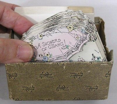 Vintage Box 25 1930s Baby Shower Thank You Cards w Envelopes Gorgeous!!