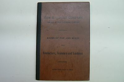Erie Railroad Company Rates & Pay 1914