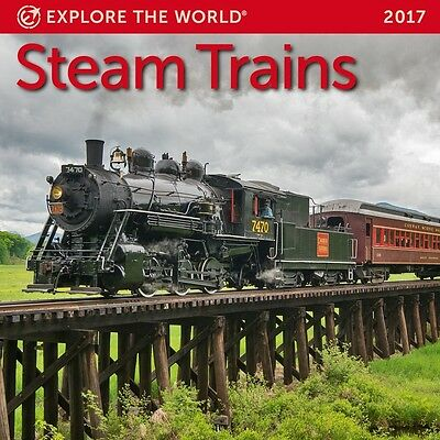 Steam Trains Mini Wall Calendar