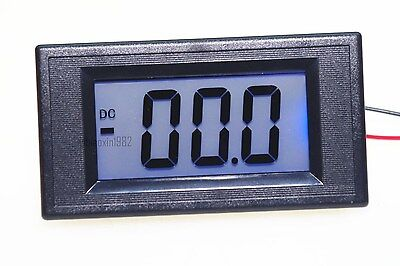 1 pcs DC 4-20mA 7 Segments Blue LCD Display Current Tester Panel Ammeter