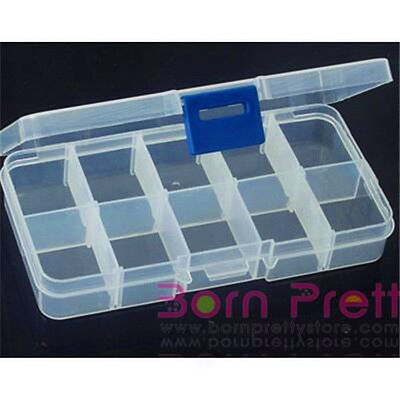 1pc plastique container Maquillage Makeup jewelry Storage boîte Removable 10Grid