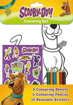 Scooby-Doo Colouring Set / Birthday Party Loot Stickers